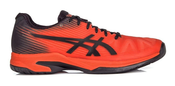 Tênis Asics Gel Solution Speed Ff Laranja E Preto