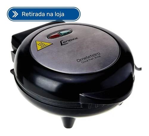 Imagem 1 de 5 de Omeleteira Elétrica Antiaderente Gourmet Inox 127v Lenoxx
