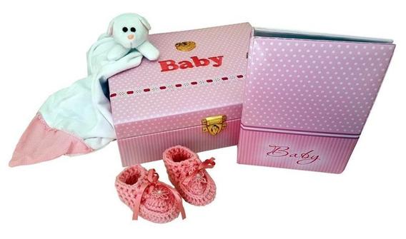 Album 80 Fotos 15x21 Kit Maternidade Baby Rosa Hobby Mania