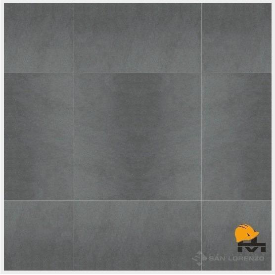 Porcelanato San Lorenzo Basalt Antracite Semipul 57.7x57.7 1