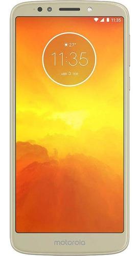 Imagem 1 de 4 de Motorola Moto E5 16gb Ouro Excelente - Celular Usado
