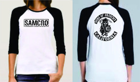 Playera De Mujer Sons Of Anarchy Samcro Soa Tipo Ranglan