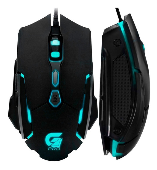 Mouse Gamer Rgb Usb Optico 4000 Dpi Led 7 Botões Pc Notebook