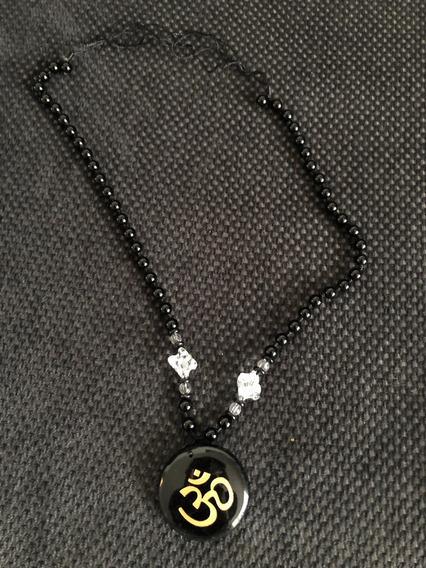 Collar De Cuarzo Obsidiana Ohm Reiki Crystal Feng Shui
