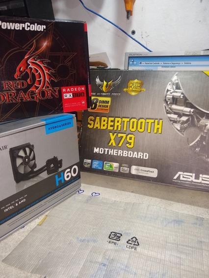 I7 4820k 3.7 Placa Mãe Sabertooth X79 Lga 2011 16gb