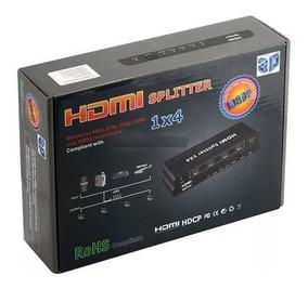 Hub Hdmi 1 Entrada 4 Saídas Splitter Divisor Distribuidor