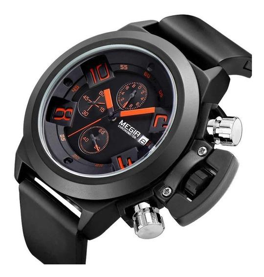 Relógio De Pulso Megir Quartzo Esportivo Cronógrafo Militar