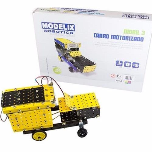 Carro Motor Metálico Montagem Kit Robótica Modelix Mobil
