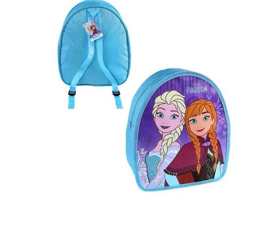 Mochila Escolar Infantil Da Frozen Cor Azul Anna E Elsa