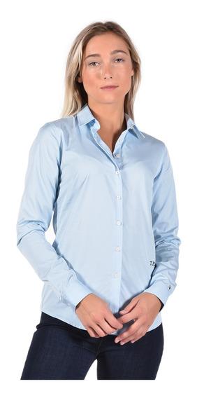 Camisa Fitted Tommy Hilfiger Azul Ww0ww25269-474 Mujer