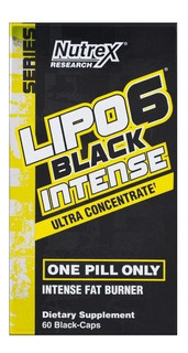 Lipo 6 Intense Black Uc Nutrex 60 Capsulas