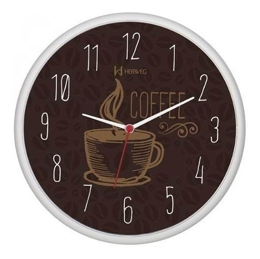 Relógio Moderno Cozinha Café Herweg 660014 - Promoção
