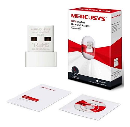 Adaptador Usb Nano Inalámbrico Mercusys N150 Wifi 150 Mbps R