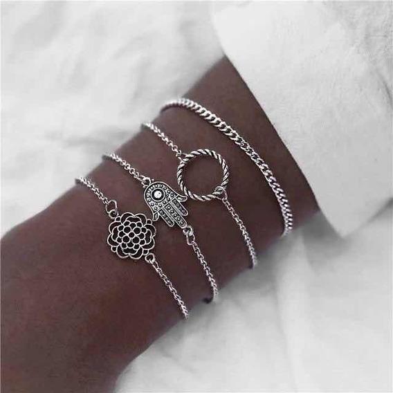 Trinity Silver Bracelet Set