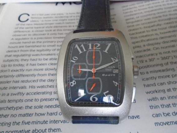 Relógio Locman Caixa De Alumínio Quartz Cronógrafo