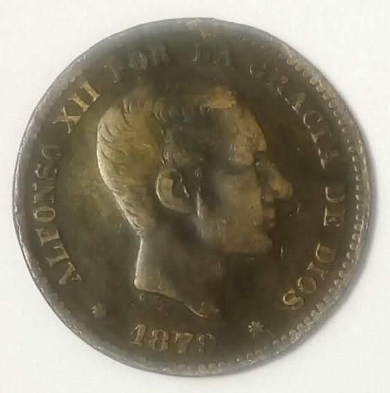Moneda España 5 Centimos 1879 Alfonso Xii