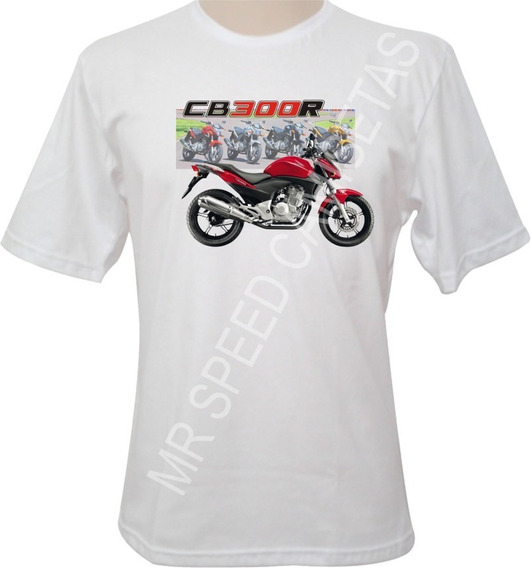 Camiseta Motocicleta Honda Cb 300r Vermelha