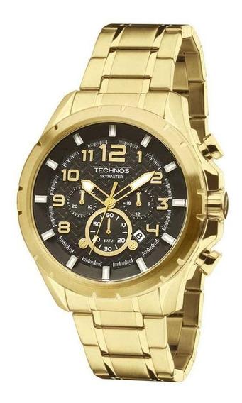 Relógio Masculino Technos Skymaster Js25bf/4p Dourado
