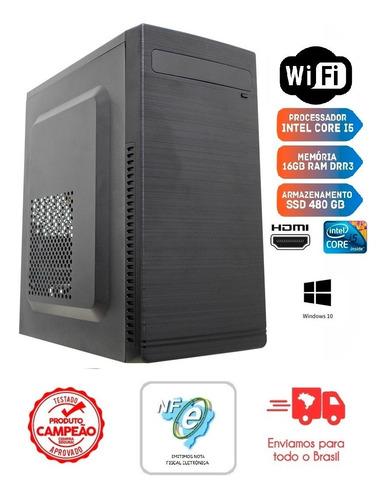 Pc Intel Core I5 3ª Ger/16gb Ddr3/480gb Ssd/gabinete + Fonte