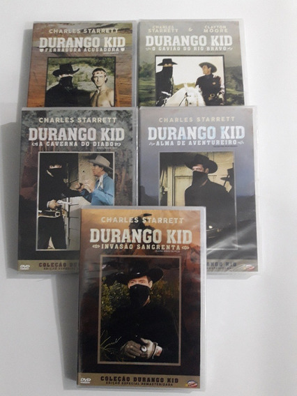 Durango Kid - Charles Starrett - 5 Dvds - Originais Lacrados