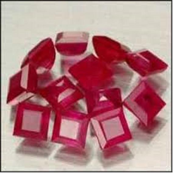Rubi Quadrado Carre Natural Pombo 0 175 Cts 3,5 Mm 01 Pedra