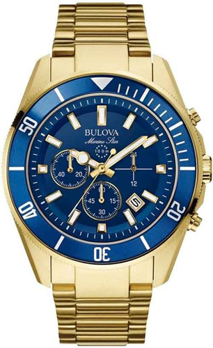 Relógio Bulova Cronógrafo Wb31774z *marine Star