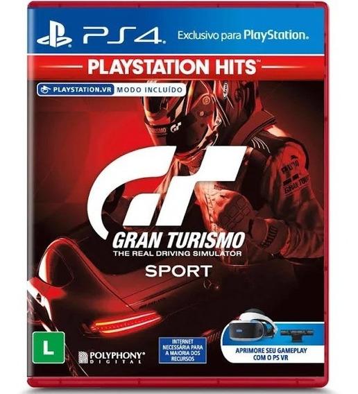 Jogo Gran Turismo Sport Ps4 Mídia Física Lacrado