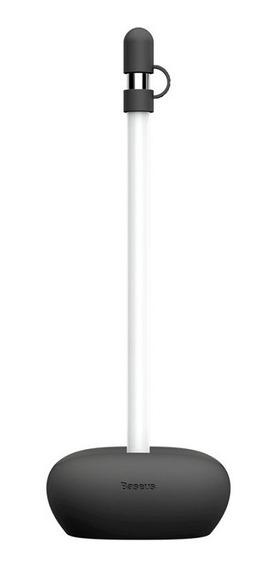 Suporte Baseus Emborrachado + Proteção Caneta Apple Pencil