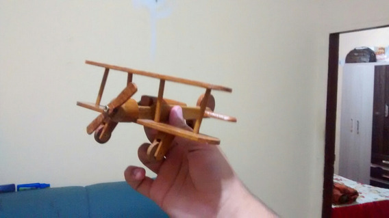 Avião Biplano Miniatura