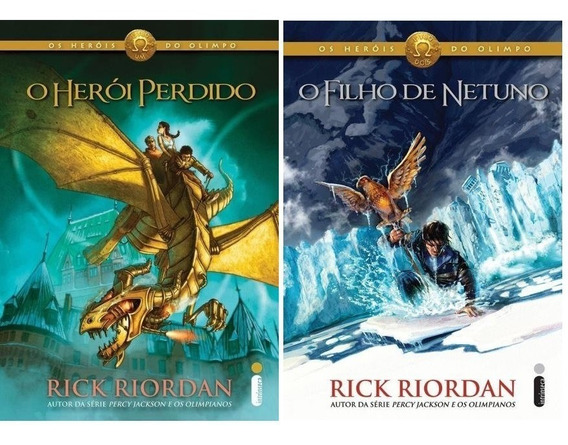O Herói Perdido + O Filho De Netuno 2 Livros Rick Riordan