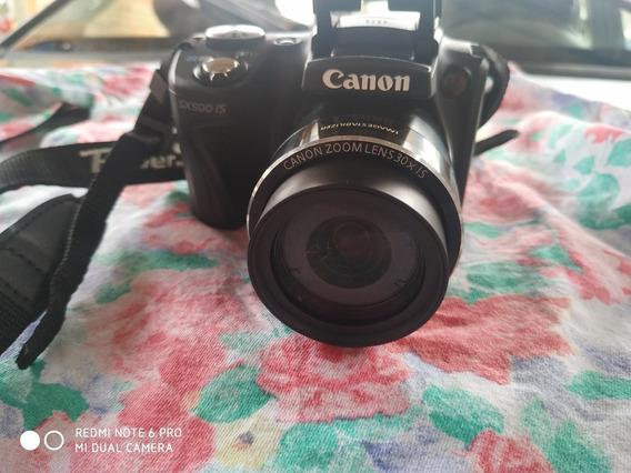 Câmera Canon Sx500is Completa Com Necessaire Promoção