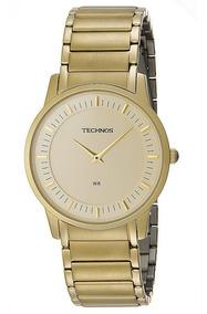 Relógio Technos Masculino Classic Slim Dourado Gl20aq/4x