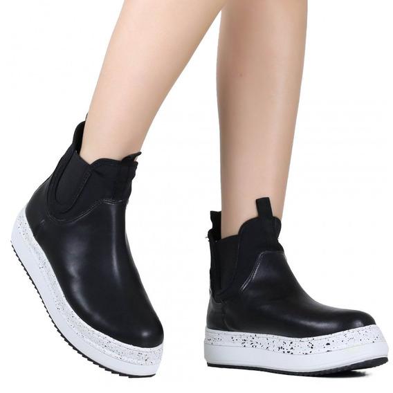 Tênis Feminino Zariff Shoes Chelsea Cano Alto Slip On