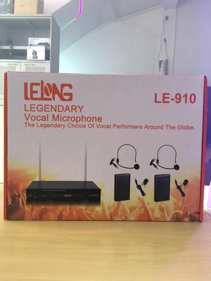 Kit Microfone Vhf Sem Fio Auricular Cabeça Headset Lapela