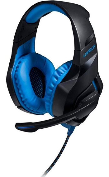 Headset Gamer Warrior 2.0 Com Led Usb Preto E Azul - Ph244