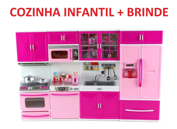 Cozinha Infantil 4x1 Com Som E Luz + Brinde Promoção