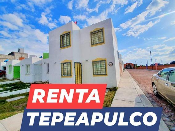 Casa En Renta En Tepeapulco Hidalgo, De 2 Recamaras