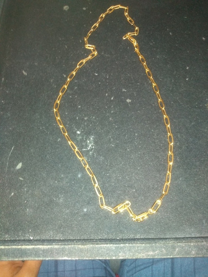 Corrente Cartier Aço Inox Anti Aligerca 65 Cm Banhada Ouro