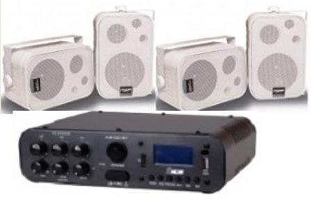 Amplificador Ab100bt Nca ( Bluetooth ) + 2 Pares Caixa Sp400