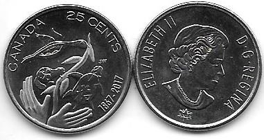 3 Monedas De Canada De 25 Centavos Conmemorativas A Elegir