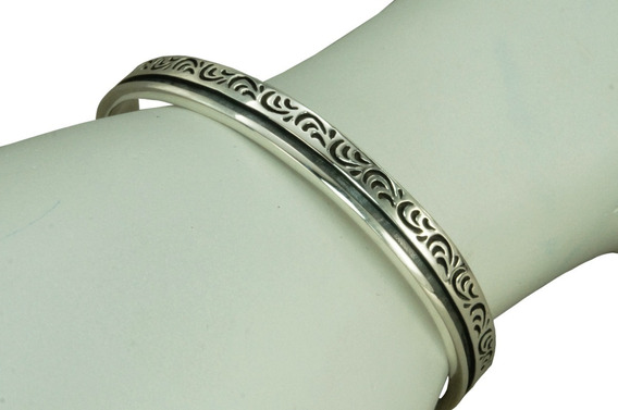 Bracelete Pulseira Tribal Bali Masculino (l20,7) Prata 925