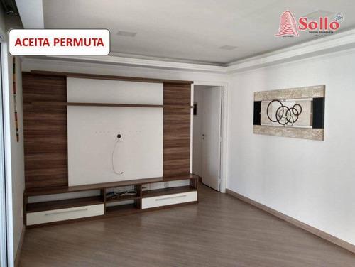 Condomínio Alegria Andar Alto Apartamento 83m² Com 3 Dormitórios (sendo 1 Suíte) - Vila Santo Antônio - Guarulhos/sp - Ap0467