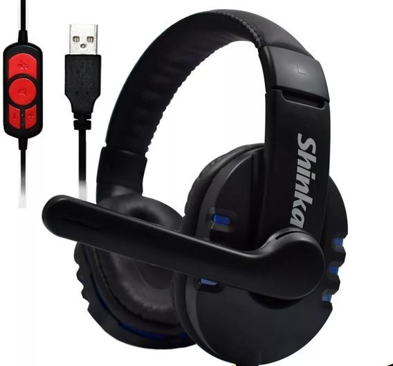 Headset Game 7.1 Usb Sh-q7 C/controle De Mudo -frete Grátis