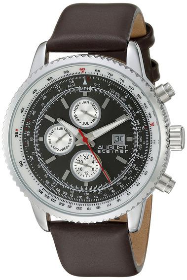 Reloj De Cuarzo Multifuncional Plateado As8189ssbr De Aug