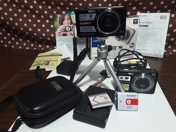 2 Câmeras Sony Cyber-shot (dsc-wx7 E Dsc-w120) Com Defeito