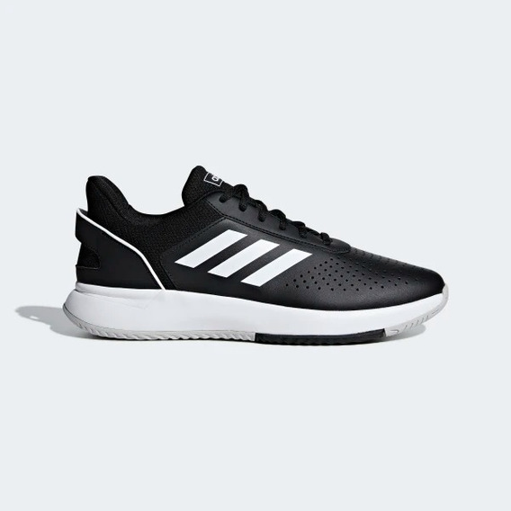 Tênis adidas Masculino Branco Preto Courtsmash+ Frete Grátis