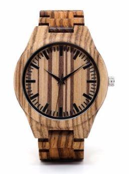 Relógio Unissex Bambu Madeira Wg22 Analógico Bobo Bird