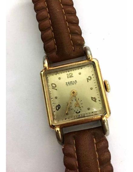 Relógio De Pulso Antigo Sorna