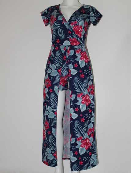 Elegante Casual Jumpsuit Floral Colores Primavera Con Short