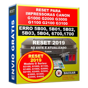 Reset Para Canon G3100 Erro 5b00 5bo2 Atualizado (2019)